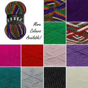 King-Cole-Glitz-DK-Double-Knitting-Yarn-Knit-Craft-Wool-Crochet-100g-Ball