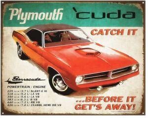 Plymouth-Barracuda-039-Cuda-metal-sign-375mm-x-300mm-st