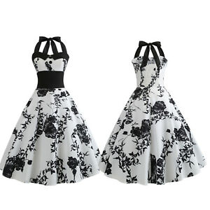 Women-Vintage-50s-60s-Rockabilly-Evening-Party-Cocktail-Pinup-Swing-Skater-Dress