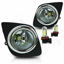 2008-2012 Toyota Rav4 Fog Lights w/Wiring Kit & High Power COB LED Bulbs - Clear