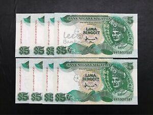 Malaysia-7th-5-Ang-pow-Money-8pcs-ALL-AU