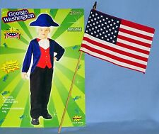 George Washington Costume kids-8-10;Historical-Colonial-President-American Flag