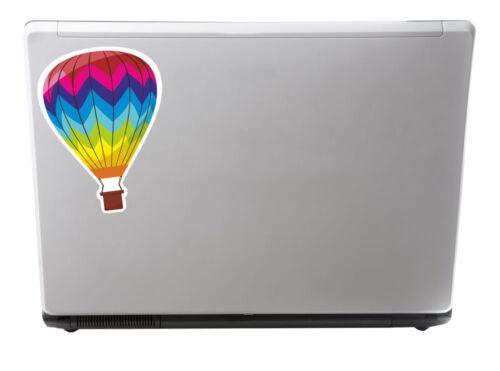 2 x 15cm Hot Air Balloon Vinyl Sticker iPad Laptop Car Flying Decal Gift #5018