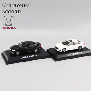 Honda-1-43-Accord-10TH-Blanco-Negro-modelo-automovil-de-fundicion-pantalla-Coleccionable