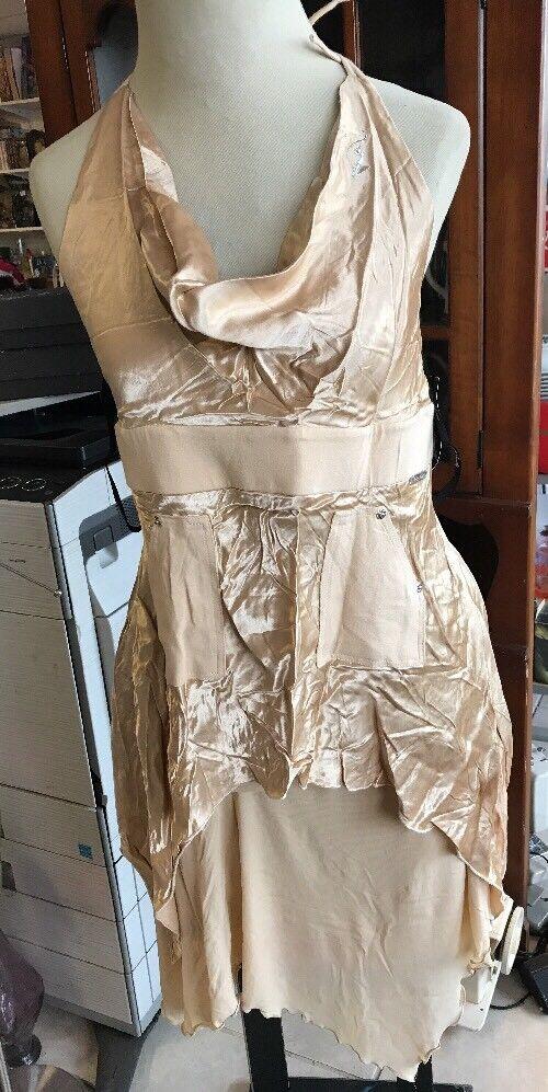 Baby Phat  V-Neck Halter Top and Skirt Gold Größe L