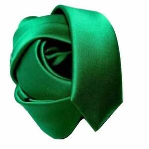CRAVATTA SLIM VERDE smeraldo 6cm GRUN SCHMALE KRAVATTE Mince Cravate Made Italy