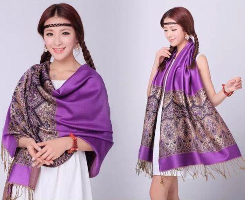 Heiße neue Mode Pashmina Cashmere Damen Schals Paisley Stola Schal Wrap Schal