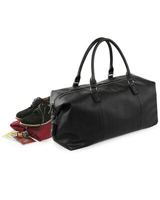 Onesto Vintage Weekender Bag Grande Piano Di Viaggio Bagagli Smart Lavoro Viaggio Similpelle-mostra Il Titolo Originale Tempi Puntuali