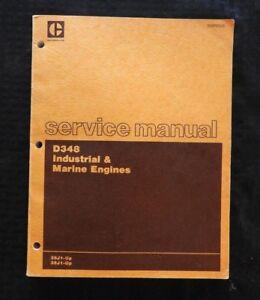 CATERPILLAR D348 INDUSTRIAL & MARINE DIESEL ENGINE SERVICE MANUAL 36J1 38J1 & UP