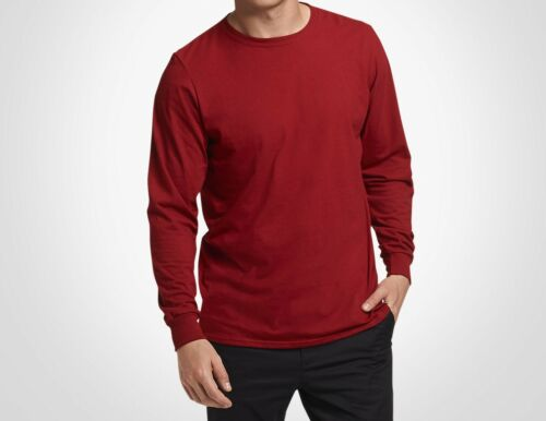 Sizes S-3XL Russell Athletic Men/'s Essential Long Sleeve Tee Sports T-Shirt