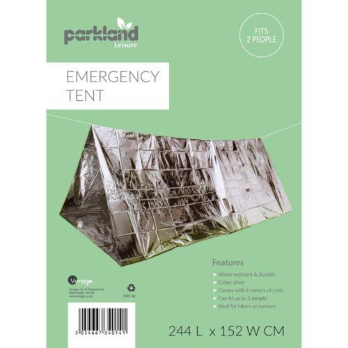 Emergency Foil Tente 2 Personne Survie Urgence Abri Tente Camping Randonnée UK