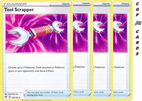 4X Tool Scrapper 168//192 Rebel Clash Pokemon TCG Card NM