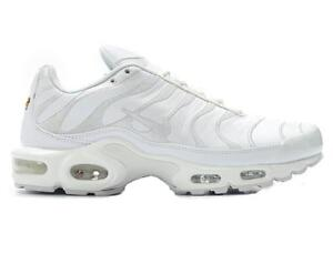 Nike Air Max Plus Tn Tuned 1 Triple White Leather Mens Trainers ... 1638cca09