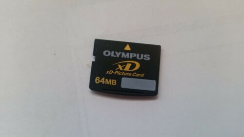 64MB XD MEMORY CARD STANDARD TYPE FOR FUJI FINEPIX OLYMPUS 64 MB FREE POST