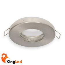 Porta Faretto Incasso Impermeabile IP65 Acciaio Satinato per LED /Dicroiche 2234