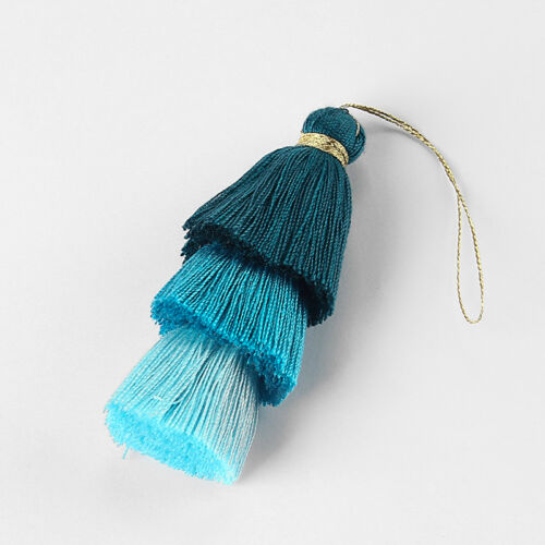 1pcs Multicolor Cotton Multilayer Tassel Cothes Bag Jewelry Making Pendant 77mm