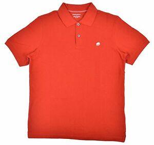 Banana Republic Men S Pique Elephant Logo Polo Shirt Red Small 32