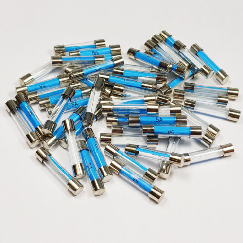 25 X 5 Amp Fusible de Vidrio 6x30mm 5 A Amperios rápido Blow Fusibles-a 6 X 30 mm