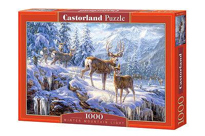 Castorland C-102501 Puzzle Winter Mountain Light Winter Berge Tiere 1000 Teile
