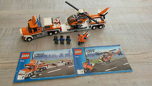 Lego-city-ref-7686-camion-transport-helicoptere