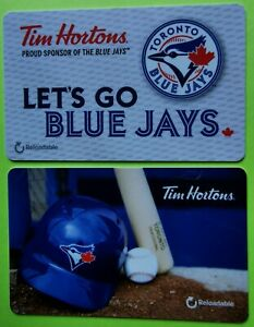 2016-TIM-HORTONS-GIFT-CARDS-TORONTO-BLUE-JAYS-Set-of-2-FREE-SHIPPING