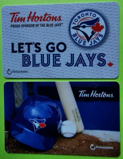 2016 +?  TIM HORTONS  GIFT CARDS  ~TORONTO BLUE JAYS  ~Set of 2  ~FREE SHIPPING