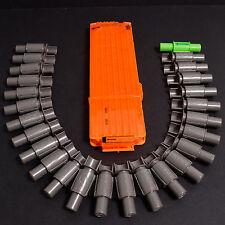 Nerf Vulcan 25 Round Ammo Belt & 18 Round N-Strike Magazine Clip Orange Good