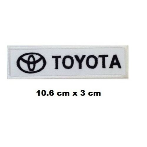TOYOTA Racing F1 Biker Iron// Sew-on Embroidered Patch// Logo T-Shirt Badge