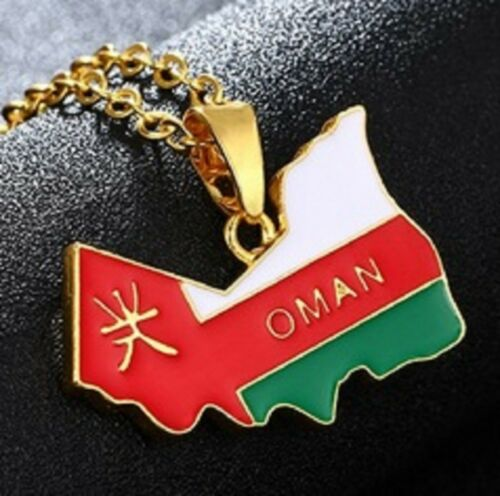Sultanate of Oman Flag Map Necklace Pendant /& 45cm Chain Arab Omani UK Seller