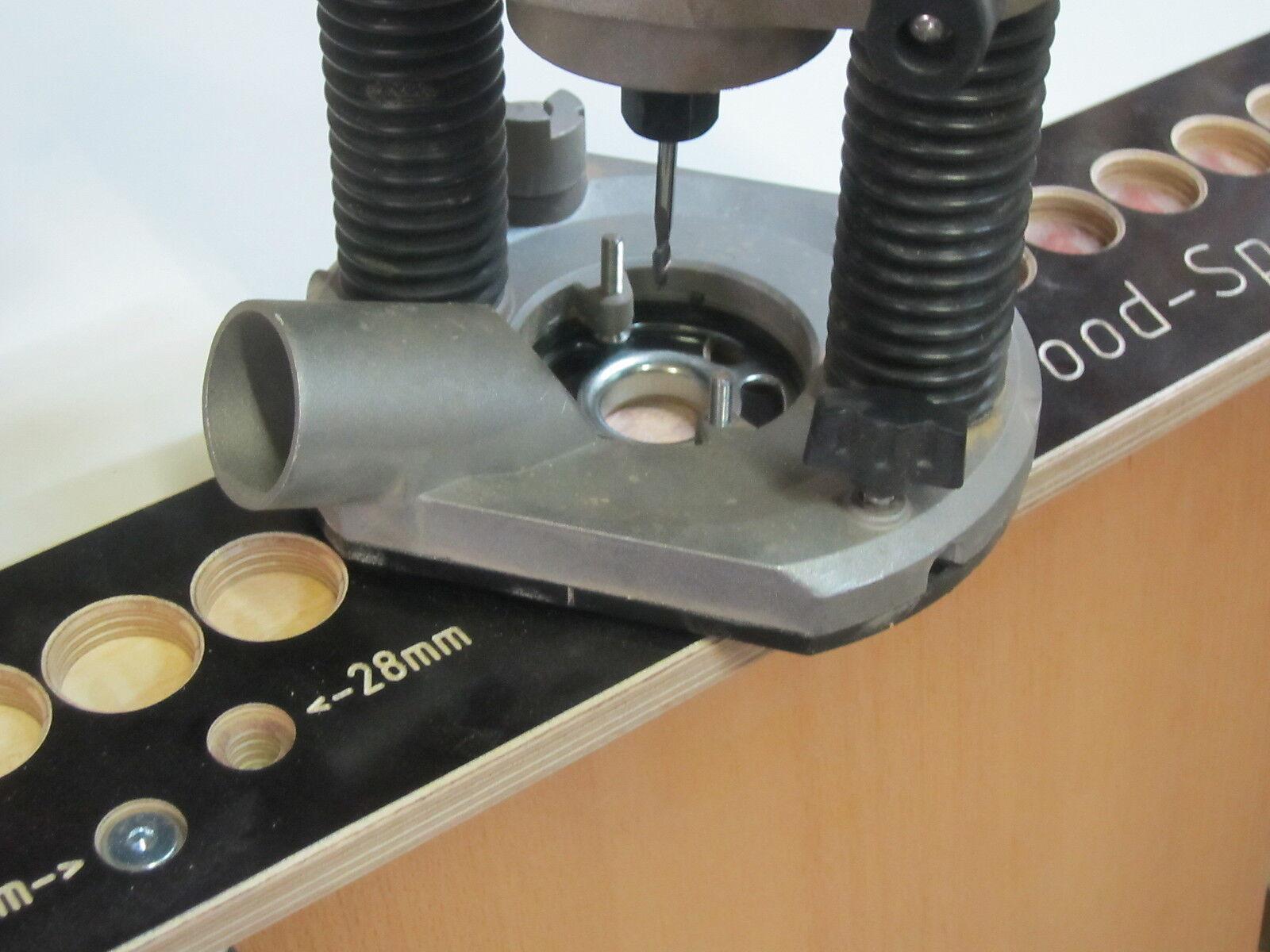 Bohrlehre Bohrlehre Bohrlehre Bohrschablone 32er System  Oberfräse mit 27 17 mm Kopierring | Meistverkaufte weltweit  | Verschiedene Arten und Stile  | 2019  a9fb61