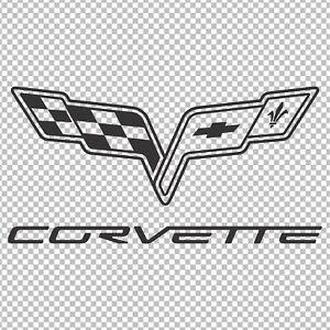 CORVETTE C6 FLAG EMBLEM LOGO DECAL STICKER CAR LAPTOP WINDOW TOOLBOX ...