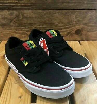 VANS Atwood Rasta Black Red Yellow Green Boys Sneakers - Kids Youth Size 2   eBay