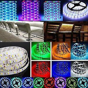 5M-10M-15M-SMD-3528-5050-RGB-White-Flexible-LED-Lights-Strip-12V-Power-Remote-IR