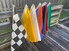 Brass Blessing Nascar Flag Set 100/% Cotton - 8 Inches x 13 Inches Race Nascar Signal Flag Sports Car Race Racking : Complete Set of 8 Flags