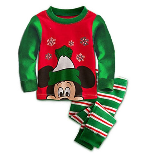Kids Boys Girls  Mickey Mouse Christmas Tracksuit Leisure Sleepwear Outfits Set