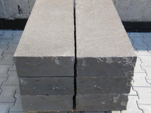 Einfriedigung 25x10x10cm Basalt Palisade Leistenstein Bordsteine Pergolen