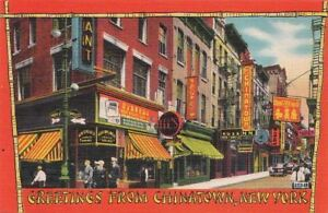 Postcard greetings from chinatown new york ny ebay image is loading postcard greetings from chinatown new york ny m4hsunfo