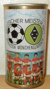 BORRUSSIA-MONGENGLADBACH-1971-Soccer-Team-Straight-Steel-Beer-can-from-GERMANY