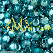 3000pcs Turquoise Blue 2mm ss6 Flat Back Resin Rhinestones Diamante Gems C41