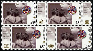 1995-50th-Anniversary-of-United-Nations-SG1529-Block-of-4-MUH-Mint-Stamps