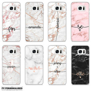 check out 95d8d e4c2e Details about PERSONALISED ROSE GOLD MARBLE ENDLESS NAME INITIALS HARD CASE  COVER FOR SAMSUNG