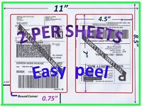1000 Pro Office Shipping Labels-7.0x4.5-rounded Corner-blank Labels-made In Usa