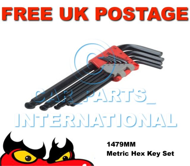 TENG TOOLS HEX KEY SET 9pce METRIC ALLEN 1.5mm-10mm 1479mm