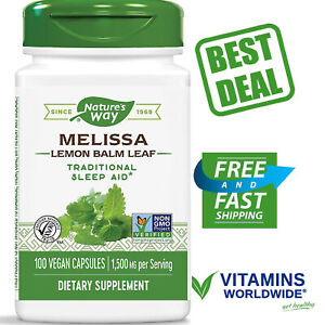 NATURE-039-S-WAY-MELISSA-Lemon-Balm-Leaf-500-mg-Supplement-100-Vegetarian-Capsules