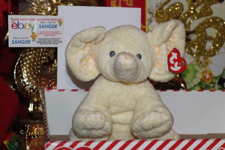 Ty pluffies p 'ei der elephant-6  x9  - 2006 release-retirot-mwnmt-nice geschenk