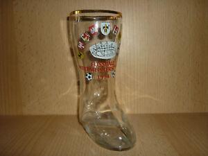 Stiefel-Bierglas-Glas-Fussball-Fussballweltmeisterschaft-1974-Sammelglas