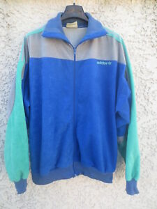 506c24862ecb Veste ADIDAS EXPLORER vintage peau de pêche bleu Ventex France ...