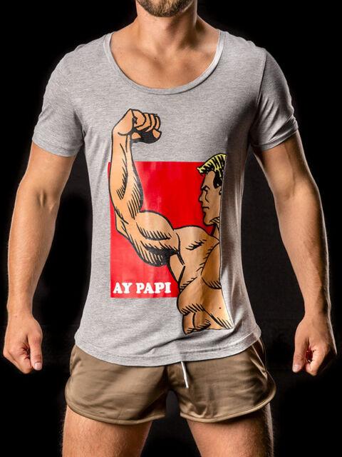Barcode Berlin Kette Ay Papi Gym T Shirt (Grey & Dark Grey)