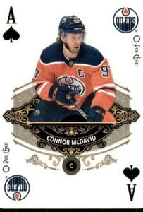 2020-21-UD-O-Pee-Chee-Playing-Cards-Aces-A-SPADES-Connor-McDavid-Edmonton-Oilers