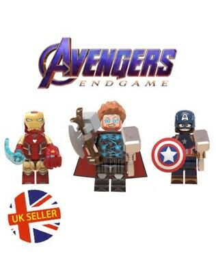 Thor Lego Fit Figure Captain AMERICA Mjolnir Block Avengers End Game UK Vendeur